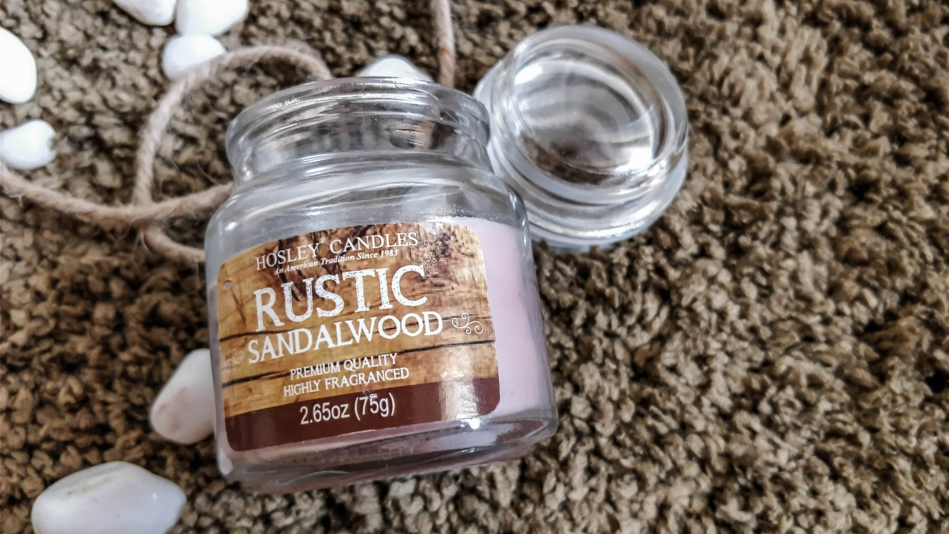 Rustic Sandalwood Jar Candle
