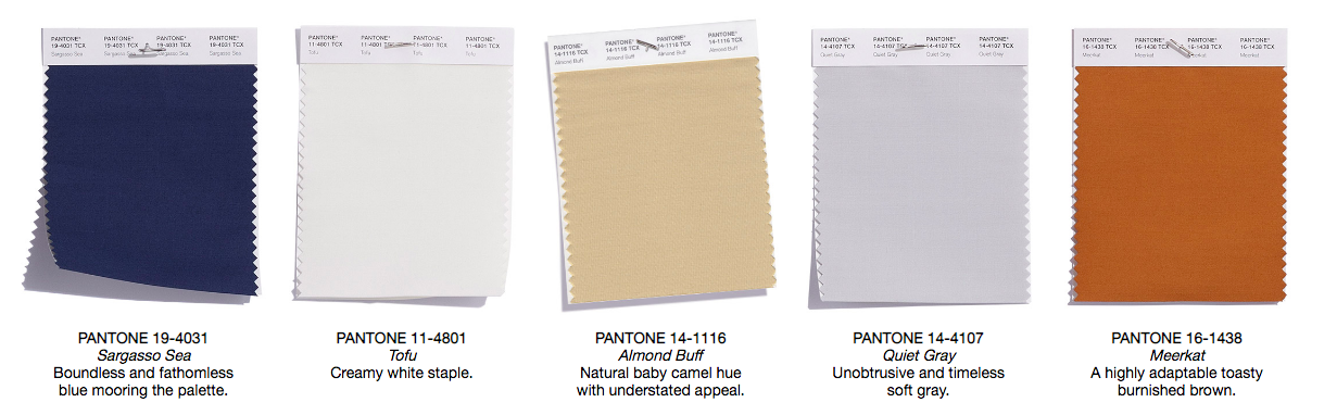 Pantone Fall Colors