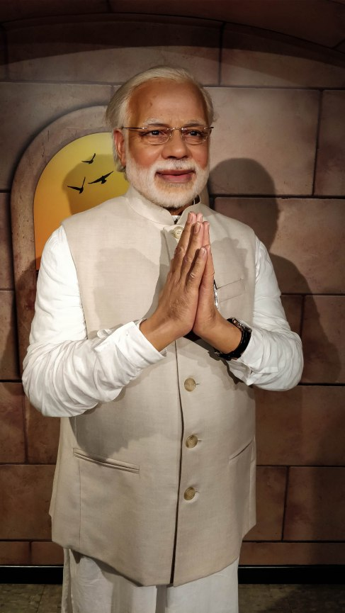PM Modi Statue at Madame Tussauds Delhi